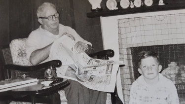 The author and his father at their home in Whenuapai, near Auckland, circa 1960.