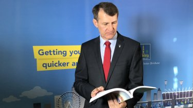 Brisbane lord mayor Graham Quirk delivers the 2018-19 Brisbane City Council budget.