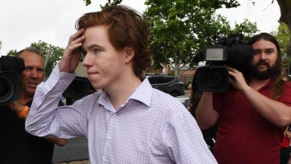 Luke Munday arrives at Camden Local Court on Thursday.