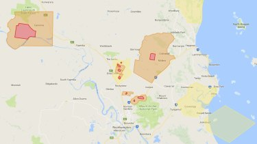 Unexploded ordnance map - central Queensland.