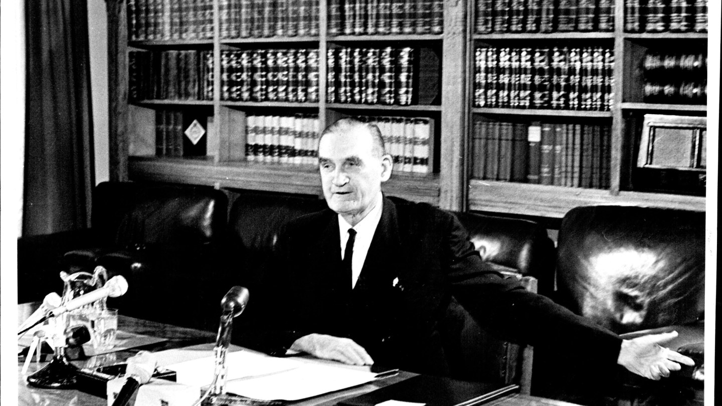 John McEwen was appointed prime minister after Harold Holt disappeared at sea.