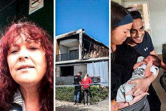 Mother 'in a rage', son says, but unaware of sleeping family when she allegedly lit fatal fire