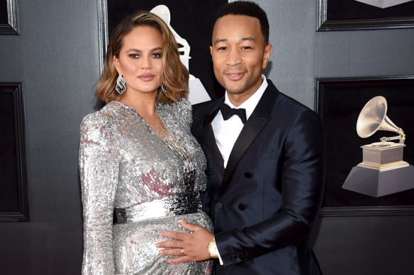 Chrissy Teigen calls out John Legend for leaving newborn son for Billboards