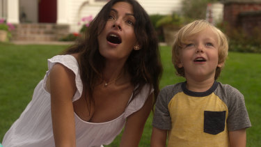 Sarah Shahi, left, plays Billie, an increasingly unsatisfied stay-at-home mum in Sex/Life.