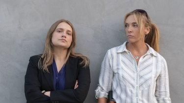 Merritt Wever (left) and Toni Collette play detectives in the Netflix series Unbelievable.