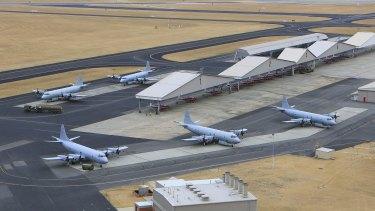 The RAAF base in Pearce.