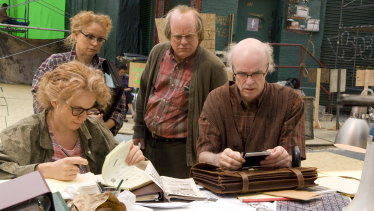 From left, Emily Watson, Samantha Morton, Philip Seymour Hoffman and Tom Noonan in Synecdoche, New York.