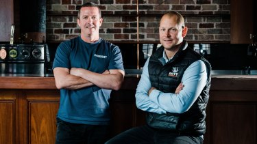 Publicans Tim McLernon and Saul Brockwell at the Beaufort Street pub formerly known as The Flying Scotsman.