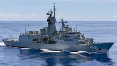 HMAS Toowoomba during her 2018 deployment.