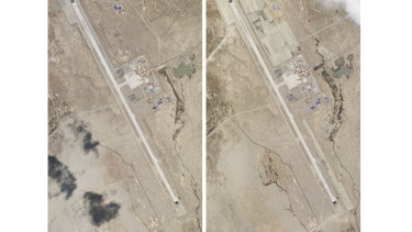 Satellite photos show development around the Ngari Günsa civil-military airport in the far-western region of Tibet in China, near the border with India.