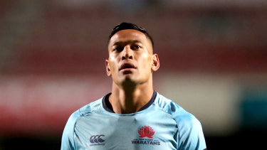 Big shoes to fill: Waratahs fullback Israel Folau is facing termination of his contract.