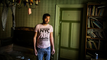 Babak Jamali, who left his home in war-torn Afghanistan, now lives in the southern town of Horby, Sweden, and wants to become an electrician.