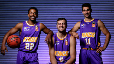 Kings no more: Casper Ware, Andrew Bogut and Kevin Lisch.
