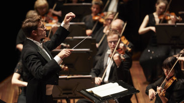 Conductor Matthew Coorey leads Melbourne Symphony Orchestra's Chinese new year performance.