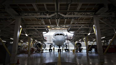 Air Canada's maintenance facility at the Toronto airport. A consortium of some of Canada's largest companies has launched a rapid testing program aimed at reopening their economy.