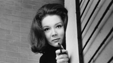 Diana Rigg as Emma Peel in The Avengers.