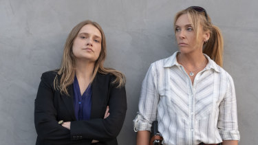 Toni Collette (right) and Merritt Wever star in the new Netflix series Unbelievable.