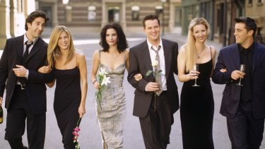 Champagne comedy ... Friends remains one of Warner Bros most valuable programming assets.