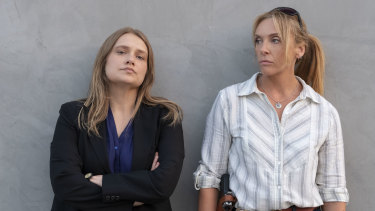Merritt Weaver (left) and Toni Collette play detectives in the Netflix series Unbelievable.