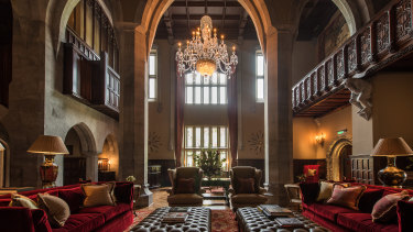 The impressively restored Adare Manor, Limerick, Ireland.