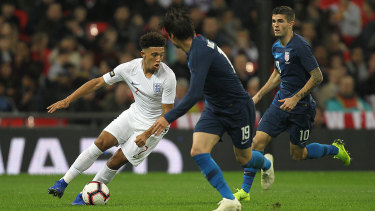 Youngster Sancho (left) impressed against the US.