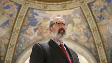 Samuel Lee, an anti-abortion lobbyist, at the State Capitol in Jefferson City, Missouri.