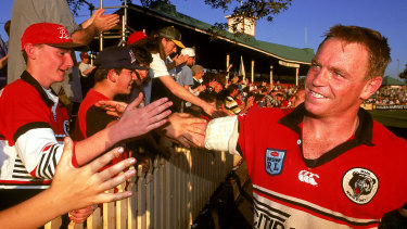 Bears legend Greg Florimo after a match at North Sydney Oval in 1993.