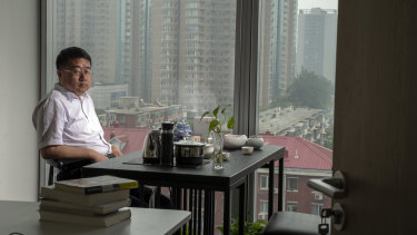 Liu Wanyong, a former investigative journalist, at his new office in a private equity company in Beijing.