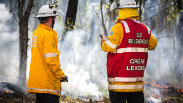 The fire was moving towards the Toowoomba bypass on Monday afternoon.