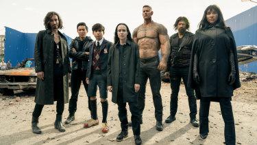 The impressively engaging superhero misfits team of Umbrella Academy.