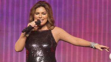 Shania Twain returned to perform in Australia for the first time since 1999.