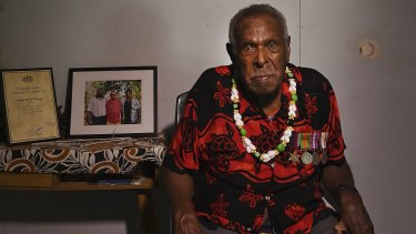 Mebai Warusam is one of the last surviving members of the Torres Strait Light Infantry Battalion.