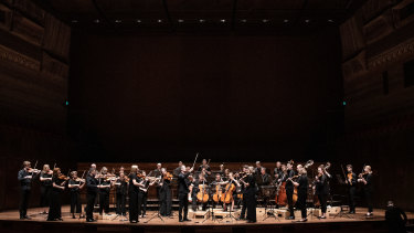 The Australian Chamber Orchestra on  the night.