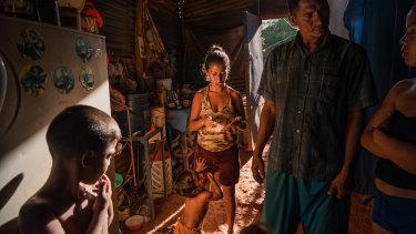 Yolman Lares at home with his family in Guaca, Venezuela.