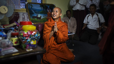 Ashin Wirathu, a Buddhist monk and leader of a hard-line anti-Muslim movement, in Taunggyi, Myanmar.