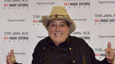 Molly Meldrum at The Age Music Victoria Awards last night.