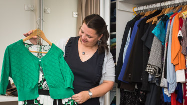 Serina Bird gets most of her clothes from op shops. One of her best buys was an $8 ball gown.