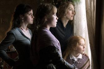 Emma Watson, from left, Florence Pugh, Saoirse Ronan and Eliza Scanlen in Little Women.