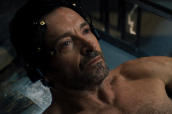 Hugh Jackman as Nick Bannister in the futuristic thriller Reminiscence.