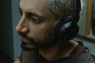 Riz Ahmed as drummer Ruben in Sound of Metal.