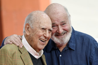 Carl Reiner passed away this week, pictured here with his son Rob in 2017.