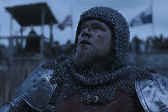 Matt Damon as Jean de Carrouges in The Last Duel.