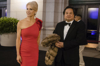 Kellyanne Conway and her husband, George, pictured in 2017.