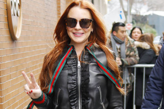 Lindsay Lohan seen in Los Angeles.