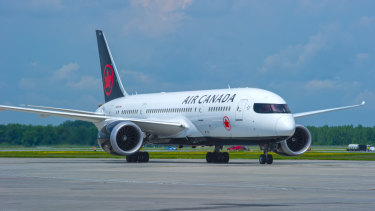 The Air Canada flight was travelling from Vancouver to Sydney when it struck severe turbulence.