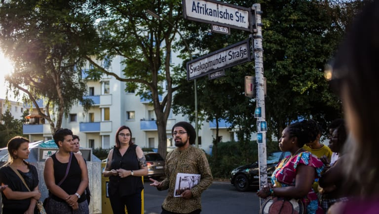 Joshua Kwesi Aikins gives a tour through Berlin's African quarter, where street names are linked to Germany's colonial past in Africa.