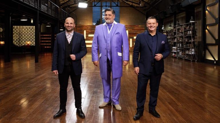 MasterChef Australia hosts George Calombaris, Matt Preston and Gary Mehigan.