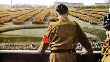 Hitler speaks to his people in 1933.