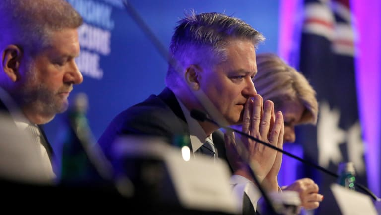 Senator Mitch Fifield and Minister for Finance, Senator the Hon Mathias Cormann at the Sydney conference on Saturday.