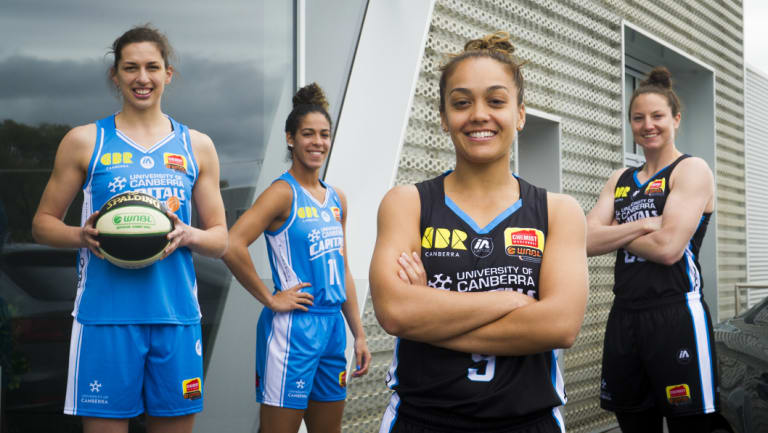 The new-look Capitals: Marianna Toloa, Kia Nurse, Leilani Mitchell and Kelsey Griffin.